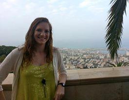 Liz at the Bahai Gardens
