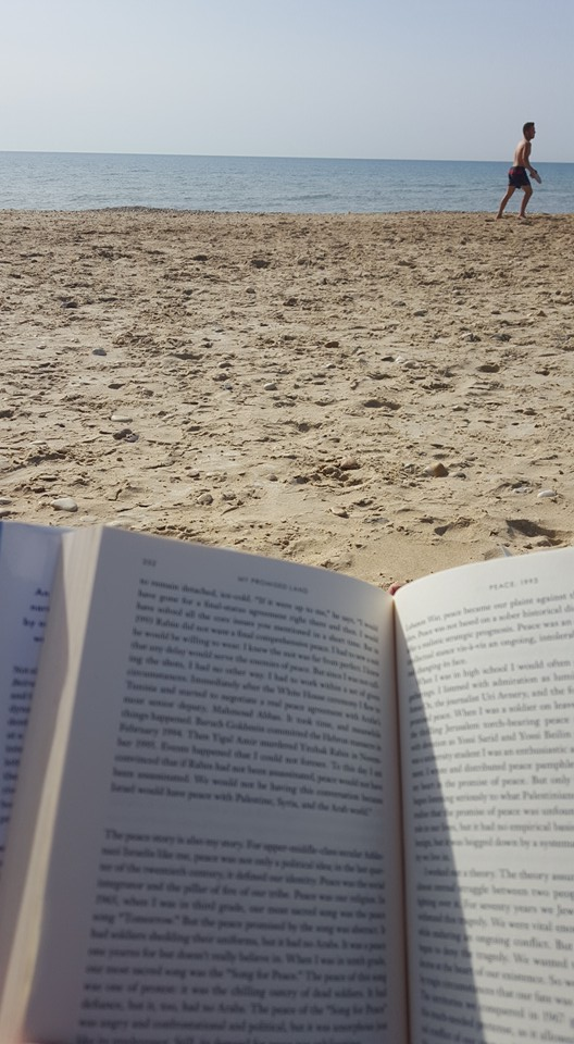 book at the beach